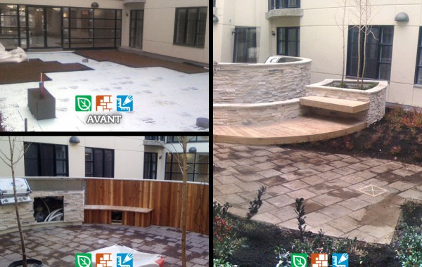 Interior courtyard landscaping